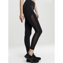 Urban Classics Leggings Damen Tech Mesh Stripe Damen-Hose...
