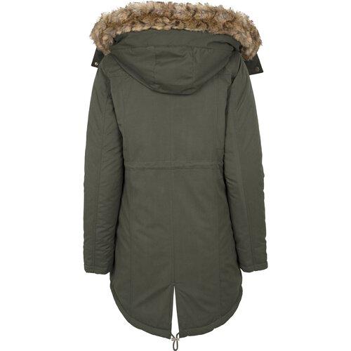 Urban Classics Winter-Jacke Damen-Jacke Kunst-Lederjacke Damen-Parka TB-1091