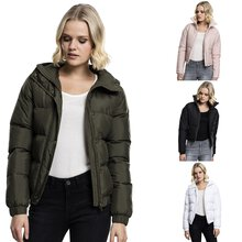 Urban Classics Damen-Jacke Hooded Puffer Jacket...