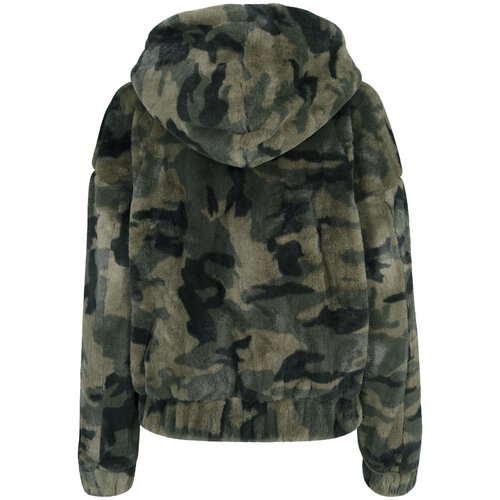 urban classics damen jacke camouflage print teddy winter jacke. Black Bedroom Furniture Sets. Home Design Ideas