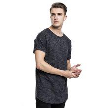 ba81446e2e7ff5 Urban Classics T-Shirt Herren Long Space Dye Turn Up Kurzarm Shirt TB-1769  Schwarz XL