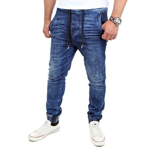 reslad jogg jeans casual style jeans herren slim fit freizeithose. Black Bedroom Furniture Sets. Home Design Ideas