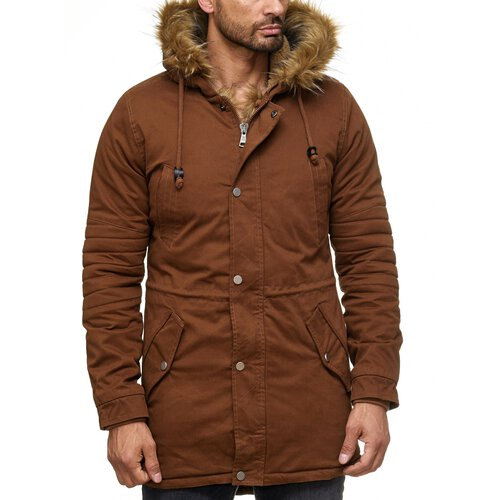 Reslad Winterjacke Herren Parka Teddy-Fleece Fell Kapuzen-Jacke RS-9004