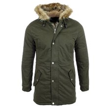 Reslad Winterjacke Herren Parka Teddy-Fleece Fell...