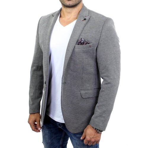 Reslad Herren Anzug Jacke Sakko Casual Freizeit Jackett RS 9013 Grau