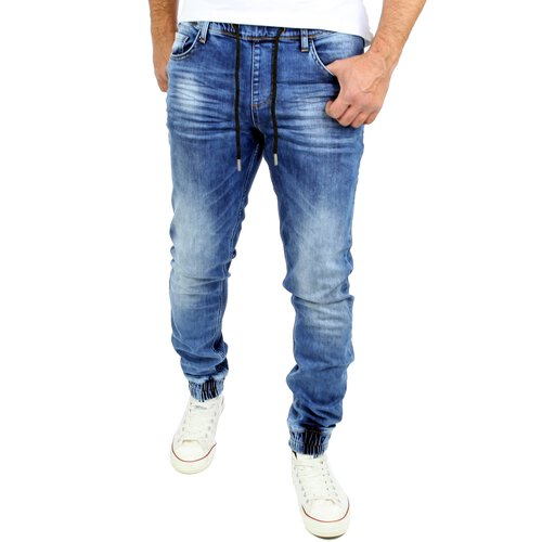 Reslad Jogg-Jeans Used Look Jeans-Herren Slim Fit Jogging-Hose RS-2073