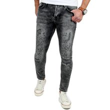 Reslad Jeans-Herren Skinny Fit Destroyed Look Denim...