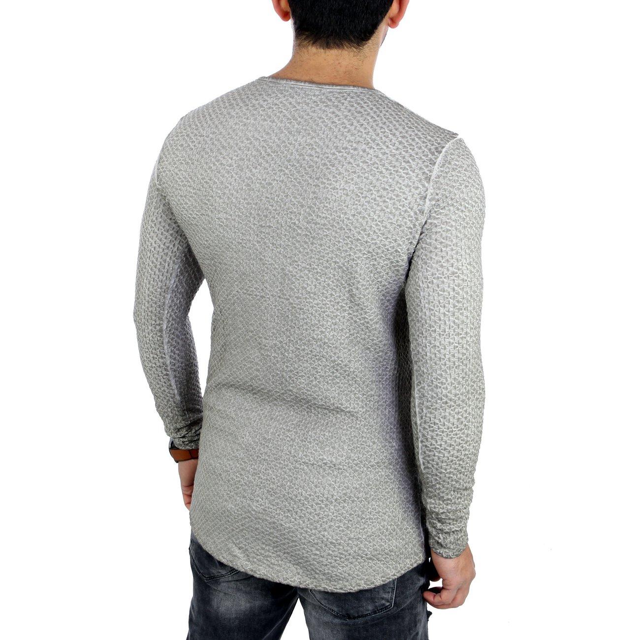 reslad longsleeve herren rundhals langarmshirt mit. Black Bedroom Furniture Sets. Home Design Ideas
