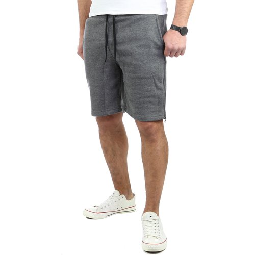 Tazzio Herren Jogginghose Sweat-Shorts Basic Printed Kurze Sweat-Hose TZ-18602