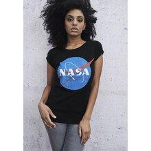 c9ae8e9437d8 Mister Tee T-Shirt Damen NASA INSIGNIA Motiv Print Kurzarm Shirt MT-614