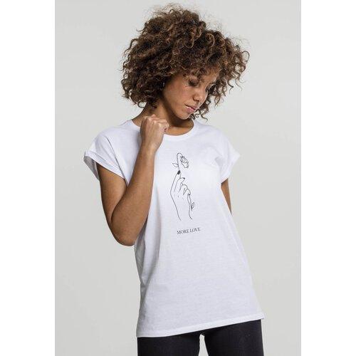 8bcc64b21fa9 Mister Tee T-Shirt Damen MORE LOVE Motiv Print Kurzarm Shirt MT-598 Weiß