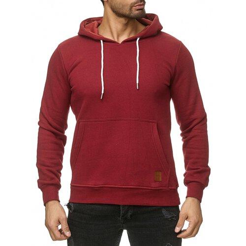 Reslad Sweat-Shirt Herren Basic Sweat Kapuzen-Pullover Hoody RS-1038 Bordeaux 2XL