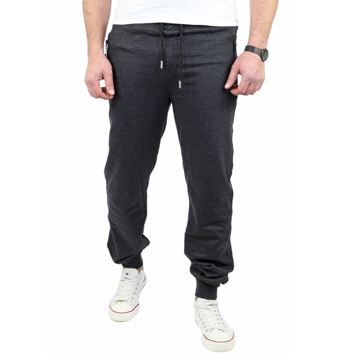 Reslad Herren Jogging-Hose Basic Look Freizeit Sweatpants Sport-Hose RS-5070 Anthrazit L