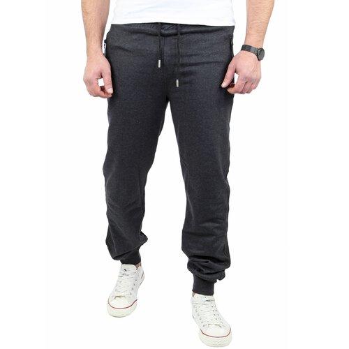 Reslad Herren Jogging-Hose Basic Look Freizeit Sweatpants Sport-Hose RS-5070 Anthrazit XL
