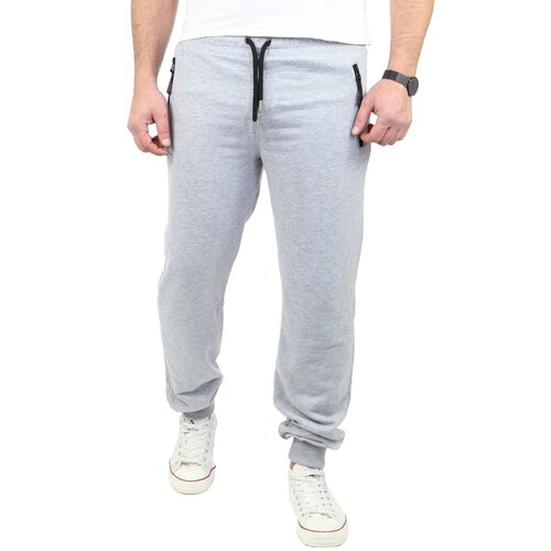 Reslad Herren Jogging-Hose Basic Look Freizeit Sweatpants Sport-Hose RS-5070 Grau S