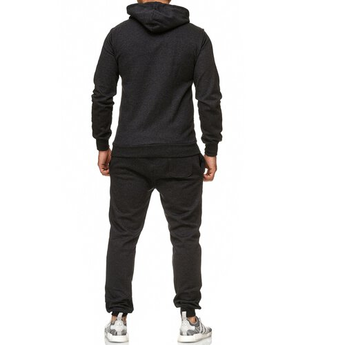 Reslad Herren Jogginganzug Trainingsanzug Sportanzug Jogging-Hose + Sweat-Jacke RS-5074