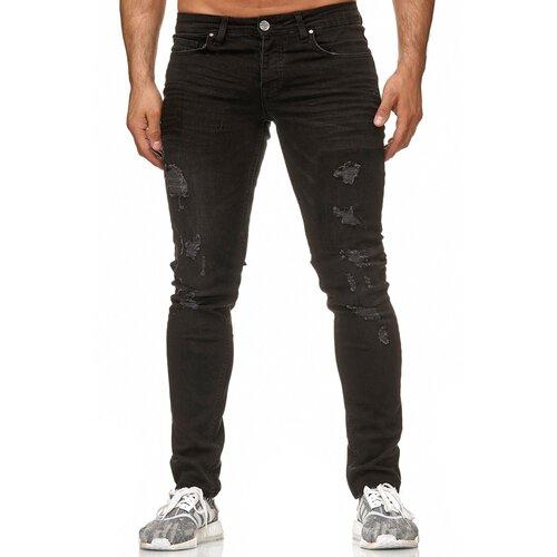 Reslad Jeans Herren Slim Fit Destroyed Herren-Hose Jeanshose Männer Jeans  Hosen Stretch Denim RS-2083 70e4ae9a03