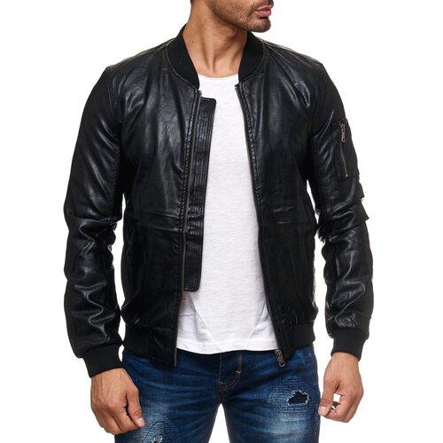 Gute Preise heiße neue Produkte speziell für Schuh Reslad Kunstlederjacke Herren-Jacke Männer Übergangs-Jacke Leder-Jacke  RS-9016