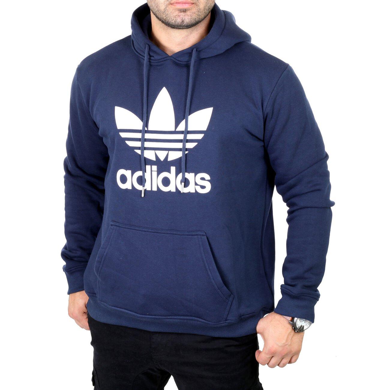 adidas sweatshirt herren pullover trefoil kapuzen hoodie. Black Bedroom Furniture Sets. Home Design Ideas