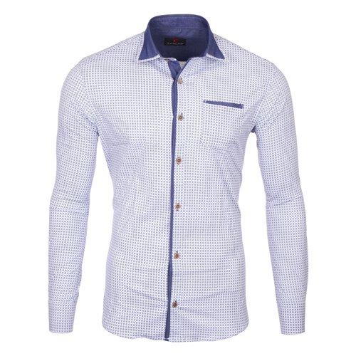 Reslad Herren Hemd Design Slim Fit Kontrast-Kragen Langarmhemd RS-7209B 1edda827a2