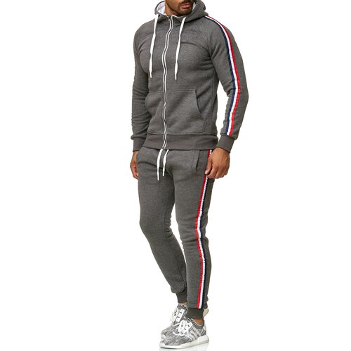 Reslad Herren Jogginganzug Trainingsanzug Sportanzug Jogging-Hose + Sweat-Jacke RS-5076