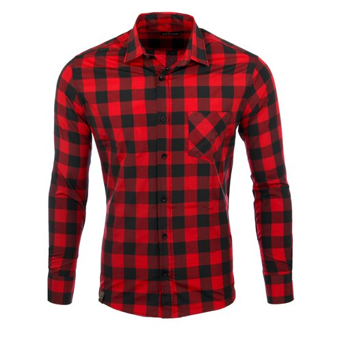 Reslad Hemd Herren Holzfällerhemd Karo-Hemd Flanell-hemd Langarm Shirt RS-7113