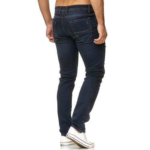 Reslad Jeans Herren Destroyed Slim Fit Herren-Hose Jeanshose Männer Hosen Stretch Denim Jeans RS-2090