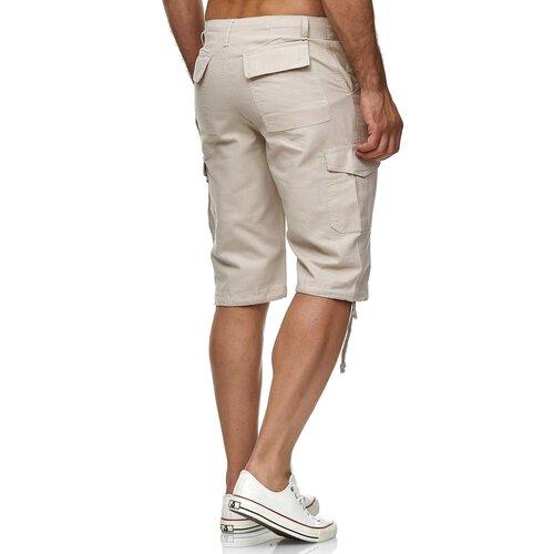 mehr Fotos 1843e bb8e9 Reslad Leinen Cargo Shorts Männer Strandhose Herren Leinenhose 3/4 Hose  Freizeit Kurze Hosen Sommer Bermudas RS-3001