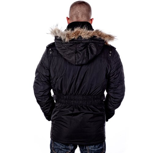 huge discount 175e8 1ce43 Golden Horn Herren Winter-Jacke Parka Männer Jacke Mantel GH-107 Schwarz