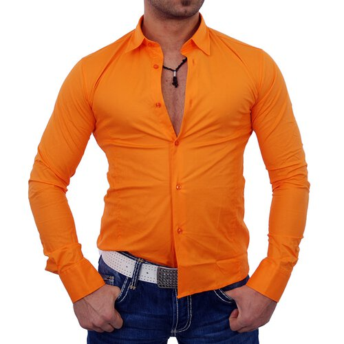 Tony Copper TC-001 Klassik Uni Hemd orange