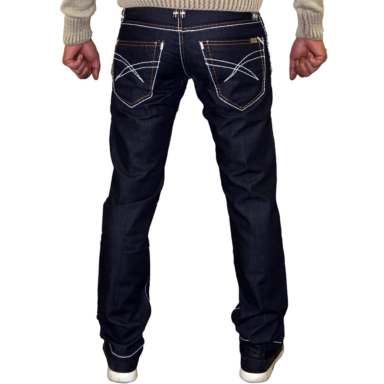 ReRock Jeanshose Herren Dicke Naht Männer Jeans RR-3041A